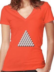 Qbert - Blank Map Women's Fitted V-Neck T-Shirt