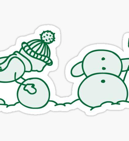 I Wanna Build A Snowman Green - 1 Sticker
