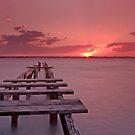 Sundown on Cleveland - Qld Australia by Beth  Wode