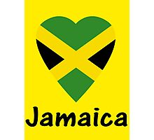 I Love Jamaica - Country Code JM T-Shirt & Sticker Photographic Print