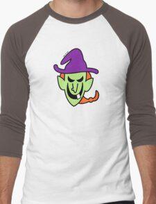 Naughty Halloween Witch Men's Baseball ¾ T-Shirt