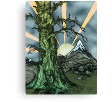 Gnarly Tree Pen Drawing Canvas Print