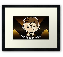 Charlie Brownson (Print Version) Framed Print