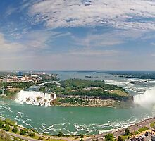 Panoramic View of Niagara Falls by Zoltán Duray