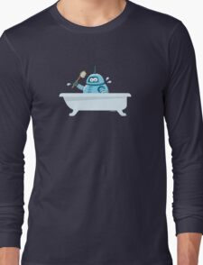 Robot in the bath Long Sleeve T-Shirt