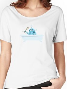 Robot in the bath Women's Relaxed Fit T-Shirt