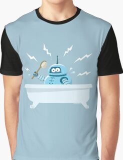 Robot in the bath Graphic T-Shirt