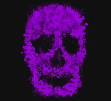 Splatter Skull (violet) Unisex T-Shirt
