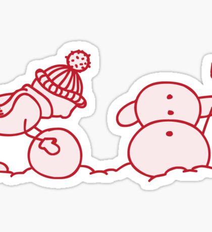 I Wanna Build A Snowman Red - 1 Sticker