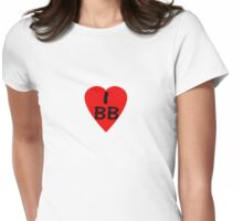I Love BB - Country Code Barbados T-Shirt & Sticker Womens Fitted T-Shirt