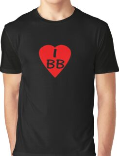 I Love BB - Country Code Barbados T-Shirt & Sticker Graphic T-Shirt