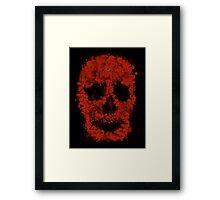 Splatter Skull (red of black) Framed Print