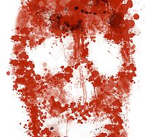 Splatter Skull (red blood of white) by Bela-Manson