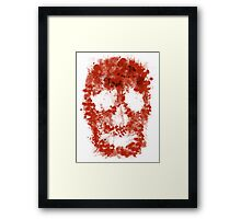 Splatter Skull (red blood of white) Framed Print