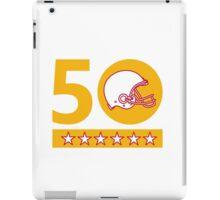 50 Pro Football Championship Sunday Helmet iPad Case/Skin