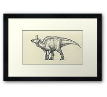 Lambeosaurus lambei Framed Print