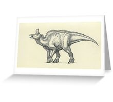 Lambeosaurus lambei Greeting Card