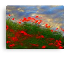 Storm of roses Canvas Print