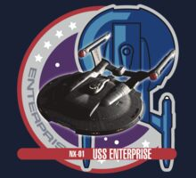 Star Trek Enterprise NX-01 Starship Badge by metacortex