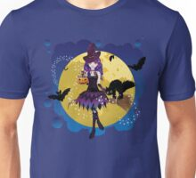 Witch and Full Moon 3 Unisex T-Shirt