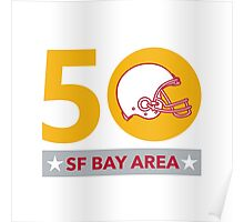 50 Pro Football Championship SF Bay Area Poster