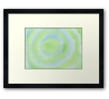 Watercolor Hand Painted Blue Green Bulls-Eye Framed Print