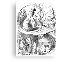 Cannabis and magic mushrooms in wonderland Canvas Print