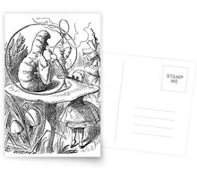 Cannabis and magic mushrooms in wonderland Postcards