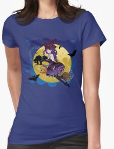 Witch and Full Moon 4 Womens Fitted T-Shirt