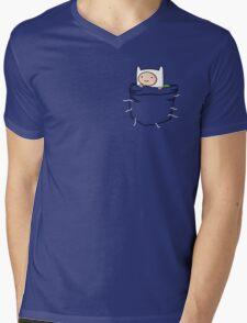 Adventure Time - Pocket Finn Mens V-Neck T-Shirt