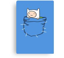 Adventure Time - Pocket Finn Canvas Print