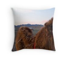 Mongolian Two Humped Camel Throw Pillow