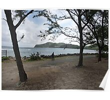 Seaside stroll, St. Lucia Poster