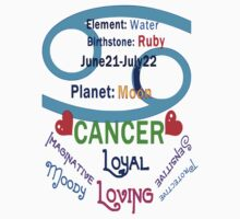 ۞»★ Star Sign-Cancer Clothing & Stickers★«۞  by Fantabulous
