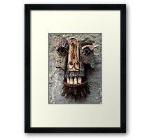 Bridle Mask ( red beard ) Framed Print