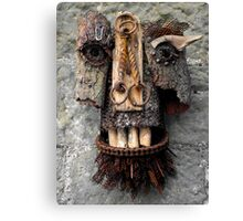 Bridle Mask ( red beard ) Canvas Print