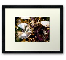 Diamonds and Gold SuperMacro 6 Framed Print