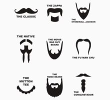 Movember Facial Hair Guide Baby Tee