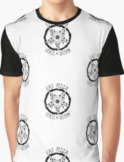 Eat Pizza Hail Satan Graphic T-Shirt