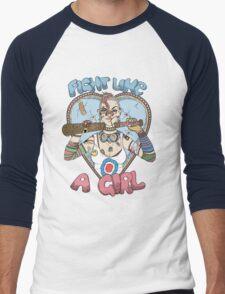 Fight Like A Girl - Fight Like A Tank Girl (Tank Girl) Men's Baseball ¾ T-Shirt
