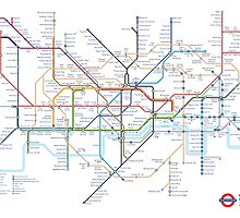 London Underground Tube Map as Anagrams by MovingMedia