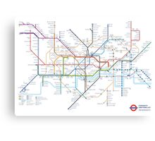 London Underground Tube Map as Anagrams Canvas Print