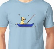 Lab Gone Fishing Unisex T-Shirt