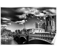 Melbourne bridge  Poster
