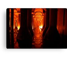 Haunting Architecture in Istanbul's Cistern Canvas Print