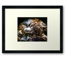 Diamonds and Gold SuperMacro 8 Framed Print