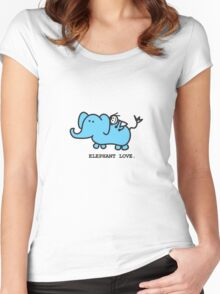 Elephant Love . Who Loves Elephants?  Women's Fitted Scoop T-Shirt