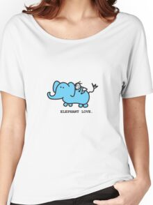 Elephant Love . Who Loves Elephants?  Women's Relaxed Fit T-Shirt