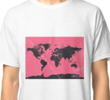 World map pink Classic T-Shirt
