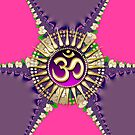 Pink Purple New Age Golden OM iPhone & iPod Case by webgrrl